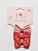 Emotion&Kids(エモーション&キッズ) 子供用ヘアアクセサリーヘアピンリボン 3個セット