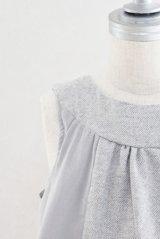 Eponime(エポニーム) ツイードコデュロイジャンパースカート(グレー)2歳6歳