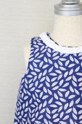 [SALE]Hucklebones(ハックルボーンズ) Plait Shift Dress ネイビー×ホワイトフェザーシフトドレス6歳116cm
