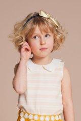 Hucklebones(ハックルボーンズ) Candy Stripe Scalloped Collar Top(スカラップカラートップス)6歳116cm
