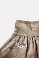 [SALE!!]Je suis en CP!(ジュスィザンセーペー) PocketSkirtポケットスカート(ハニーコーデュローイ) 12か月3歳