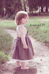 [SALE!!]Je suis en CP!(ジュスィザンセーペー) Link Dressリンクドレス(チャコールブラウン) 18か月3歳4歳
