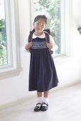 画像8: 【JiJiオリジナル】スモッキングワンピース/ジャンパースカート(ネイビー) 5歳6歳7歳