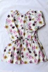 Christina Rohde(クリスティーナ・ローデ)Dress Waist-elastic長袖ブラウジングワンピース6歳8歳