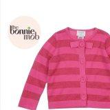 Bonnie baby(ボニーベイビー)コットンカーディガン(ピンクラメボーダー) 4-5歳104-112cm