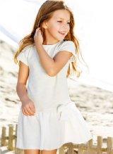 [SALE]play up(プレイアップ)リボン付き切替ワンピース(アイボリー)6歳8歳