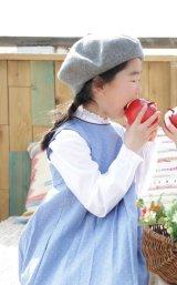 【JiJiオリジナル】 smock shop×JiJi プリンセスライワンピース/ジャンパスカート(ブルードット) 2歳3歳4歳