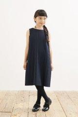 【SALE!!30%OFF!!】 ARCH&LINE(アーチ&ライン) プリーツ加工ワンピース(ネイビー) 125cm