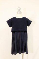 【SALE!!30%OFF!!】 ARCH&LINE(アーチ&ライン) レイヤードプリーツドレス 115/125cm
