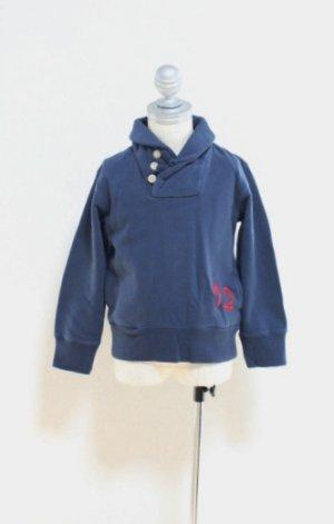 画像2: 4歳6歳 【SALE!!30%オフ!!】 American Outfitters(アメリカンアウトフィッターズ) SJAWL ボーイズバイカラースウェット(ネイビー)