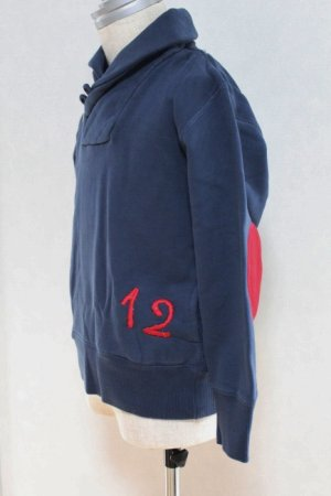 画像4: 4歳6歳 【SALE!!30%オフ!!】 American Outfitters(アメリカンアウトフィッターズ) SJAWL ボーイズバイカラースウェット(ネイビー)