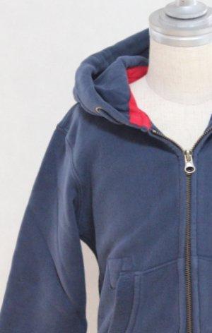 画像1: 4歳104cm 【SALE!!30%オフ!!】 American Outfitters(アメリカンアウトフィッターズ) 子供用HOODIE FULL ZIP PLAIN ジップアップパーカー(ネイビー)