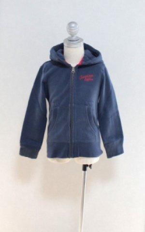 画像2: 4歳104cm 【SALE!!30%オフ!!】 American Outfitters(アメリカンアウトフィッターズ) 子供用HOODIE FULL ZIP PLAIN ジップアップパーカー(ネイビー)