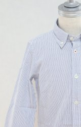 【SALE!!30%オフ!!】 American Outfitters(アメリカンアウトフィッターズ)ボタンダウンシャツ(ブルーストライプ)2歳4歳