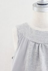 Eponime(エポニーム) ツイードコデュロイジャンパースカート(グレー)2歳90cm
