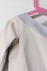 【SALE!!30%OFF!!】 Eponime(エポニーム) シルバードットジャケット(グレー)12か月1歳75cm