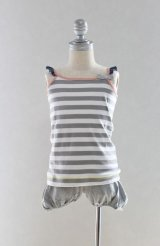 【SALE!!30%OFF!!】 Eva&Oli(エヴァ&オリ) CRYSTAL-Boy Stripes キャミソール 8歳125cm