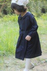 ハリトイト お花襟ワンピース(ダークネイビー)90-130cm
