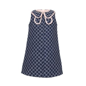 画像3: 【SALE!!30%オフ!!】Hucklebones(ハックルボーンズ) Double Collar Shift Dress 花びらドレス 6歳116cm