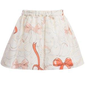 画像3: 【SALE!!30%オフ!!】Hucklebones(ハックルボーンズ) Printed Silk Gathered Skirt プリントシルクギャザースカート(リボンプリント) 10歳140cm