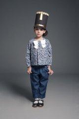 【SALE!!30%オフ!!】Hucklebones(ハックルボーンズ) Bow Tie Blouseボウタイブラス(リバティプリント エリザズEliza's)6歳116cm