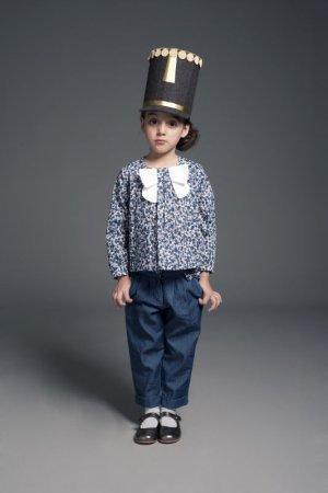 画像1: 【SALE!!30%オフ!!】Hucklebones(ハックルボーンズ) Bow Tie Blouseボウタイブラス(リバティプリント エリザズEliza's)6歳116cm