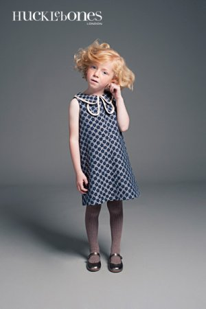 画像1: 【SALE!!30%オフ!!】Hucklebones(ハックルボーンズ) Double Collar Shift Dress 花びらドレス 6歳116cm