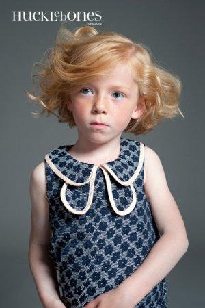 画像2: 【SALE!!30%オフ!!】Hucklebones(ハックルボーンズ) Double Collar Shift Dress 花びらドレス 6歳116cm