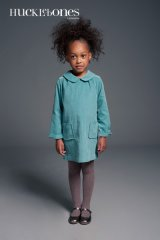 【SALE!!30%オフ!!】Hucklebones(ハックルボーンズ) Shift Dress コーデュロイグリーン 4歳104cm