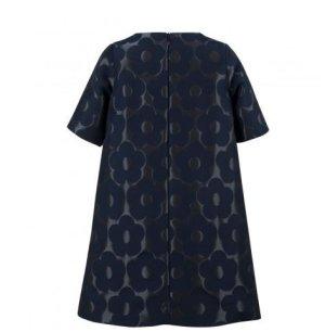 画像3: 【SALE!!30%オフ!!】Hucklebones(ハックルボーンズ) Buttercup Shift Dressバターカップシフトドレス(ジャガードネイビー) 2歳92cm