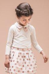 【SALE!!30%オフ!!】Hucklebones(ハックルボーンズ) Party Polka Collar Jersey Top 水玉襟Tシャツ 8歳128cm