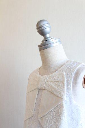 画像4: 【SALE!!】Hucklebones(ハックルボーンズ) Lace Origami Bow Dress ホワイトレースドレス 3歳98cm