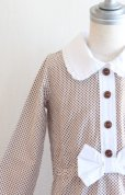 画像1: 【SALE!!】Hucklebones(ハックルボーンズ) Ditsy Print Short Dress プリントショートリボンドレス2歳92cm (1)