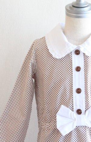 画像1: 【SALE!!】Hucklebones(ハックルボーンズ) Ditsy Print Short Dress プリントショートリボンドレス2歳92cm