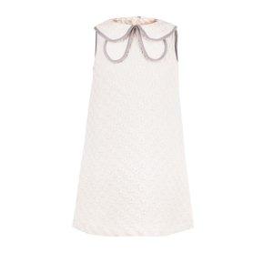 画像2: 【SALE!!30%オフ!!】Hucklebones(ハックルボーンズ) Shift Dress 花びらドレス(オフホワイト)8歳128cm