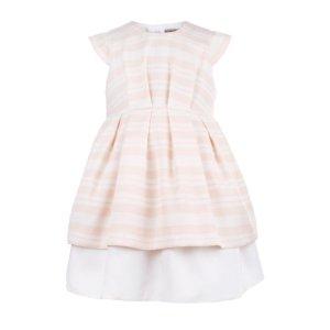 画像2: Hucklebones(ハックルボーンズ) Candy StripeTiered Bodice Dressキャンディーピンクドレス6歳116cm
