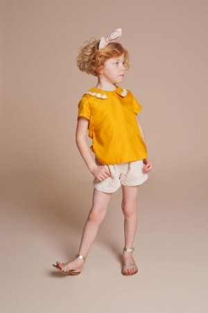 画像1: 【SALE!!30%オフ!!】Hucklebones(ハックルボーンズ) Flower Jacquard Tailored Shorts(ジャガード織ショートパンツ) 8歳128cm