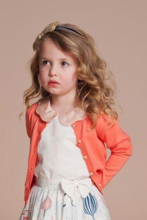 画像1: 【SALE!!30%オフ!!】Hucklebones(ハックルボーンズ) Cardigan カーディガン(コーラル)2歳3歳4歳6歳