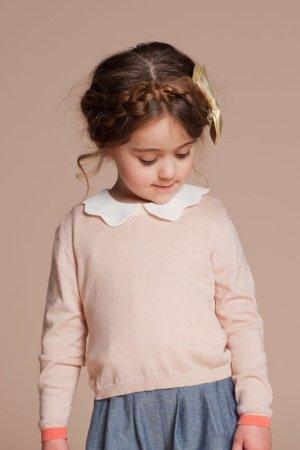 画像1: 【SALE!!30%オフ!!】Hucklebones(ハックルボーンズ) Knit Pulloverニットプルオーバー(カラーミックス) 8歳10歳