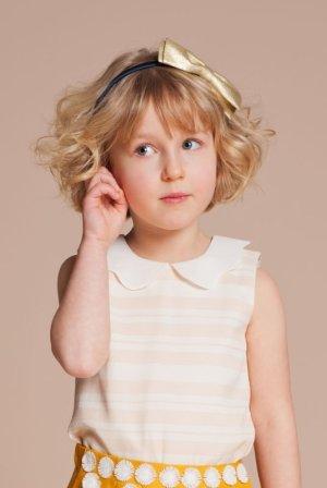 画像1: 【SALE!!30%オフ!!】Hucklebones(ハックルボーンズ) Candy Stripe Scalloped Collar Top(スカラップカラートップス) 6歳116cm