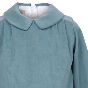 画像2: 【SALE!!30%オフ!!】Hucklebones(ハックルボーンズ) Shift Dress コーデュロイグリーン4歳104cm