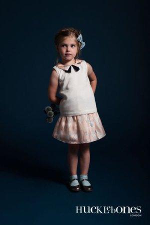 画像3: 【SALE!!30%オフ!!】Hucklebones(ハックルボーンズ) Printed Silk Gathered Skirt プリントシルクギャザースカート 10歳140cm