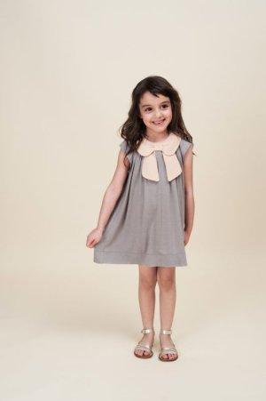 画像5: 【SALE!!】Hucklebones(ハックルボーンズ) Bow Collar Jersey Dress ジャージーリボンアイボリードレス 2歳92cm