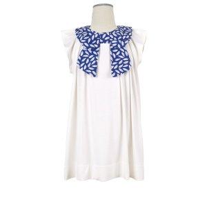 画像3: 【SALE!!】Hucklebones(ハックルボーンズ) Bow Collar Jersey Dress ジャージーリボンアイボリードレス 2歳92cm