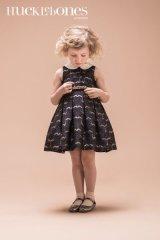 【SALE!!30%オフ!!】Hucklebones(ハックルボーンズ) Metalic Brocade Bodice Dressシアーグレイストライプドレス 6歳116cm