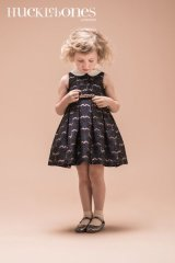 【SALE!!30%オフ!!】Hucklebones(ハックルボーンズ) Metalic Brocade Bodice Dressラメクリップ付ドレス 8歳128cm