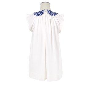 画像4: 【SALE!!】Hucklebones(ハックルボーンズ) Bow Collar Jersey Dress ジャージーリボンアイボリードレス 2歳92cm