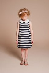 【SALE!!30%オフ!!】Hucklebones(ハックルボーンズ) Candy Stripe Shift Dress ストライプシフトドレス 2歳4歳6歳