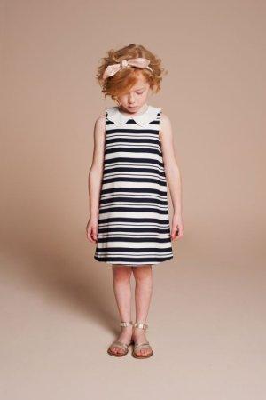 画像3: 【SALE!!30%オフ!!】Hucklebones(ハックルボーンズ) Candy Stripe Shift Dress ストライプシフトドレス(ピンク)8歳128cm
