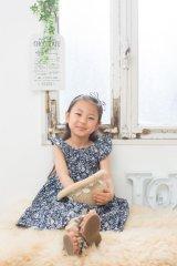 【SALE!!30%OFF!!】 Je suis en CP!(ジュスィザンセーペー) New Ladybird Dressレディバードドレス(リバティプリントSummer Blooms サマー・ブルームス) 2歳82-86cm